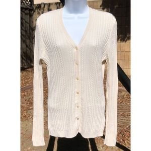 Like new silk/cashmere Brooks Brothers cardigan